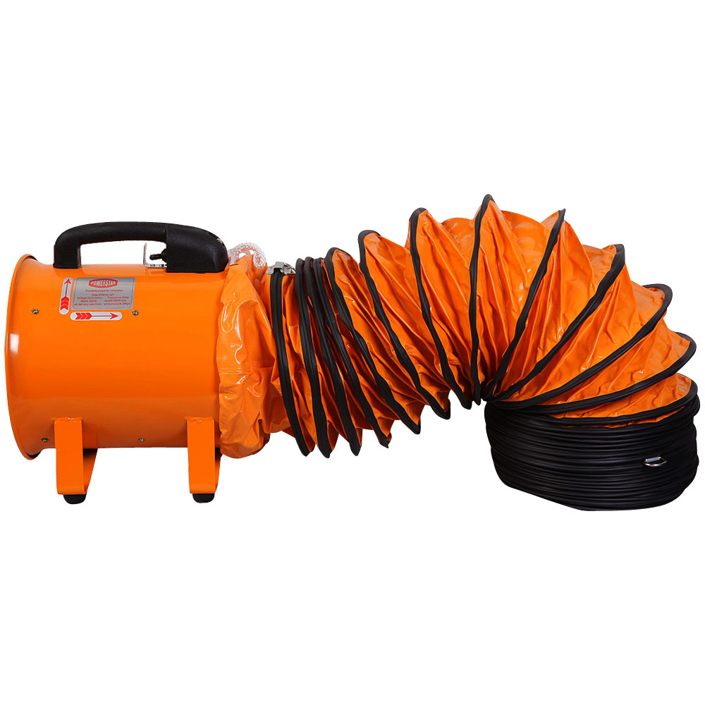 Portable Ventilation Fan With Ducting : Portable ventilator industrial air axial metal blower